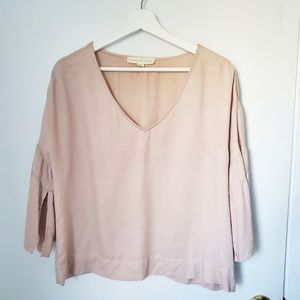 Lovestitch bell sleeve top blush medium